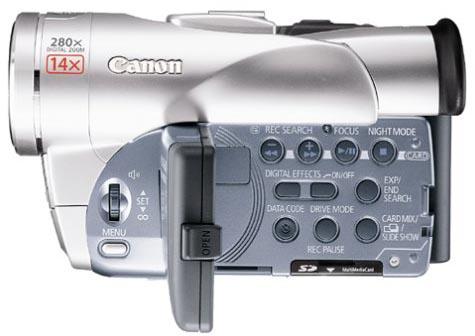 Canon Elura 60 Left View