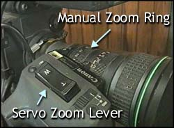 1 = manual zoom ring  2 = servo zoom lever