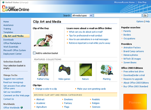 Matelic Image Microsoft Online Clip Art Gallery