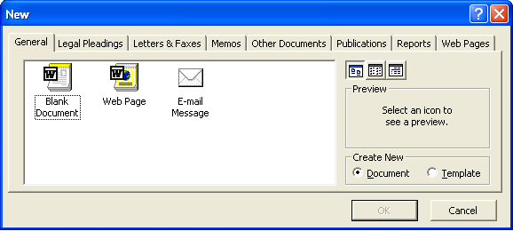 how to create a new first page in microsoft word
