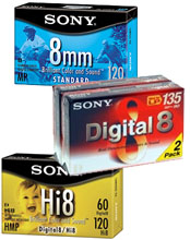 8mm Video Cassettes